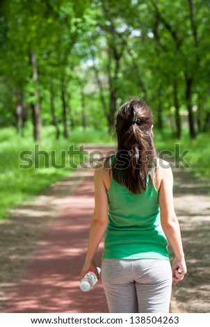 Walk in the park - stock photo