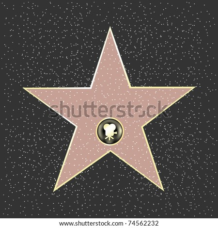Walk Of Fame Type Star - stock photo