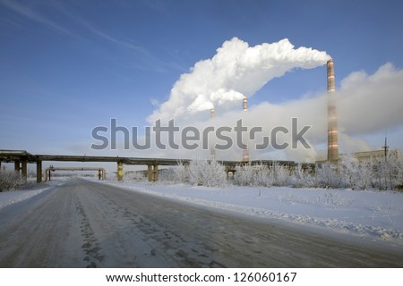 Walk through the beautiful places frosty Russian winter - stock photo