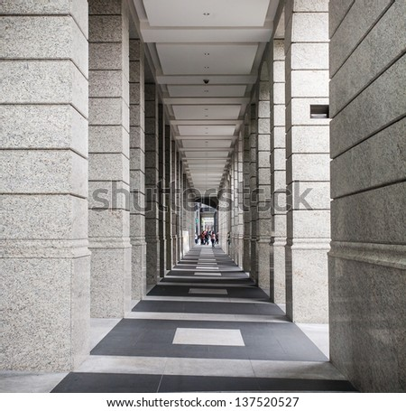 walk way - stock photo