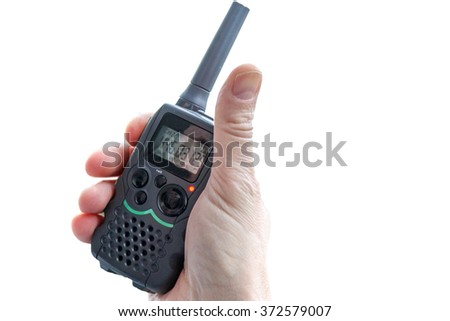 Walkie Talkie - stock photo