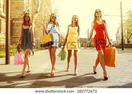 Walking around - stock photo