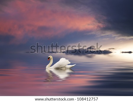 Walking around the lake of colors - stock photo