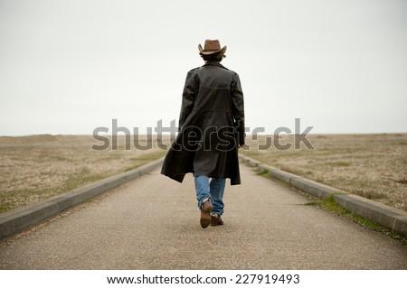 Walking Away - stock photo