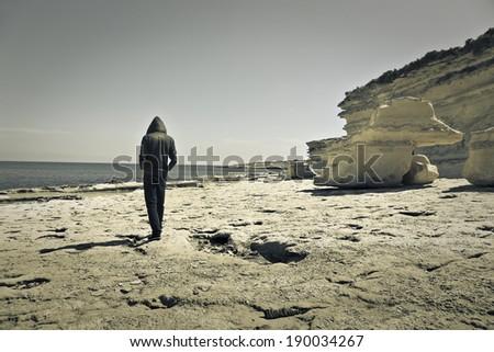 walking man - stock photo