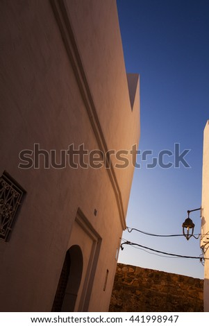 Walking through the medina - stock photo