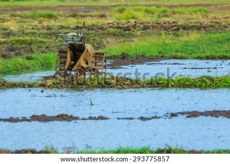 Walking tractors - stock photo