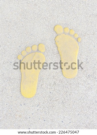 Walking way, foot signage on the street - stock photo