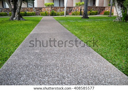 Walkway in park.