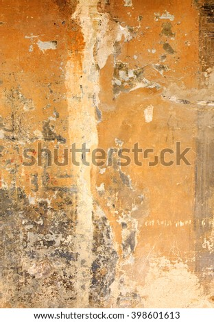 Wall abstract - on old wall in Tuscany, Italy - stock photo