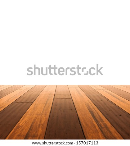 Wall and a wooden floor - stock photo