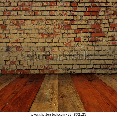 wall and perspective brown background - stock photo