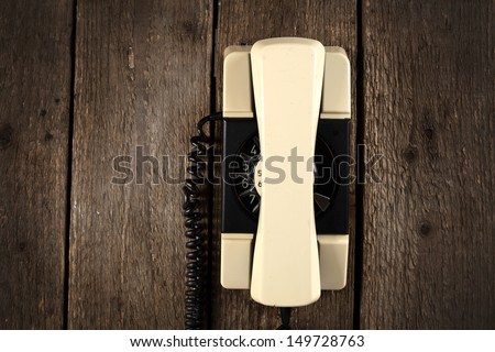 wall and phone  - stock photo