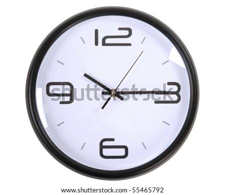 Wall Clock. Isolated - stock photo