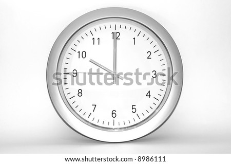 Wall clock - Time concept - stock photo