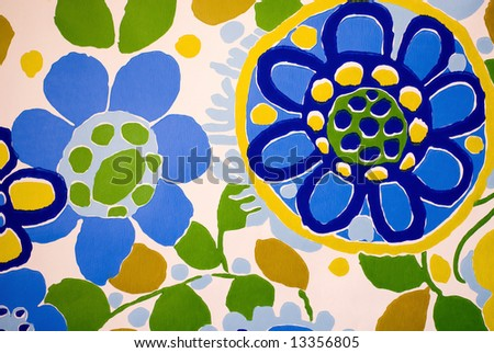 Wall Flower - stock photo