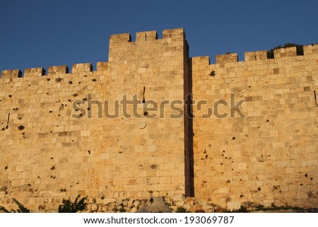 wall jerusalem israel old city was the capital - stock photo