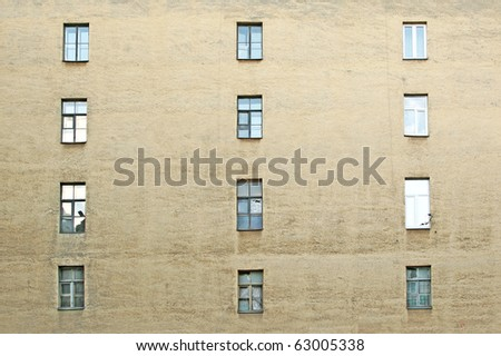 wall of a house - stock photo