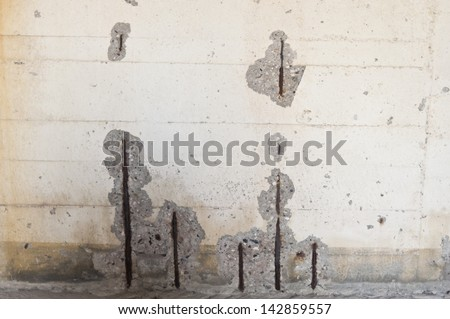 Wall of an old bunker - stock photo
