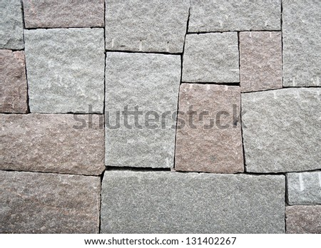 Wall of big stone - stock photo