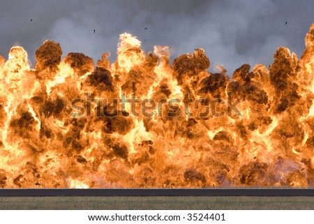 Wall of fire - stock photo
