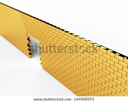 Wall of gold bars 3 - stock photo