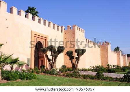 Wall of Marrakesh - stock photo