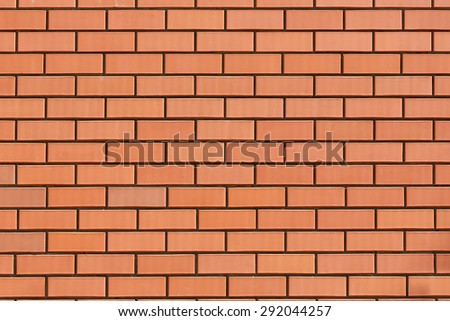 Wall of red bricks  - stock photo