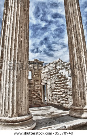 Wall of Ruins - stock photo