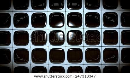 Wall of TV Screens - stock photo