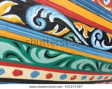wall paint wall paper vintage in room and home - stock photo