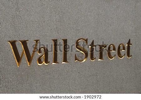 Wall Street plaque, Manhattan, New York City - stock photo