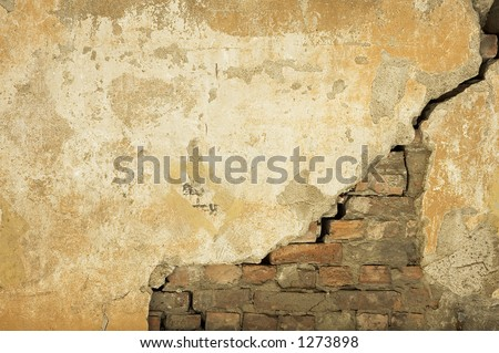 wall texture - perfect grunge background with space for text - stock photo