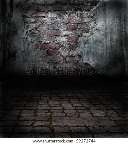 wall with an old plaster - stock photo