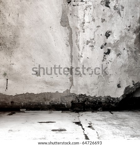 wall with an old plaster as a background - stock photo