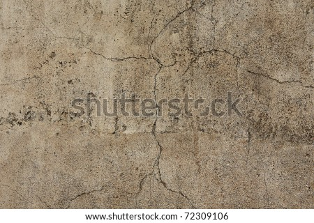 wall with cracks - stock photo