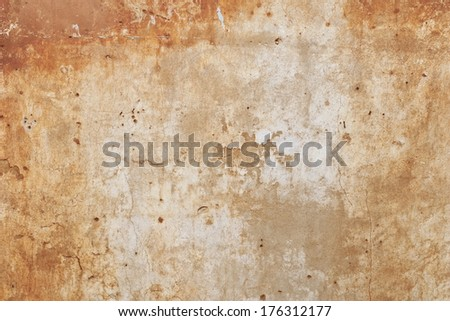 wall with holes from bullets - stock photo