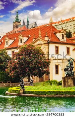 Wallenstein Palace garden in Prague - stock photo