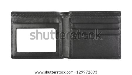 wallet for put card on white background, isolated - stock photo