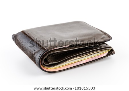 Wallet isolated white background - stock photo
