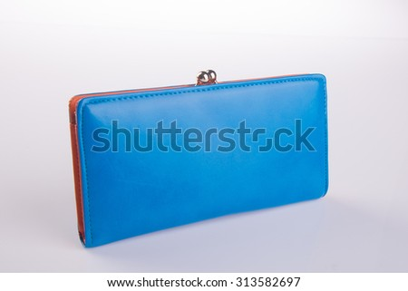 wallet. woman wallet on background - stock photo