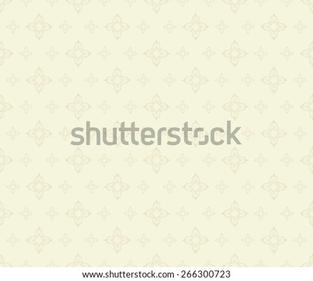 Wallpaper Background. Seamless pattern. Retro texture. Beige Color - stock photo