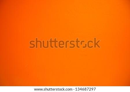 wallpaper cement orange background - stock photo