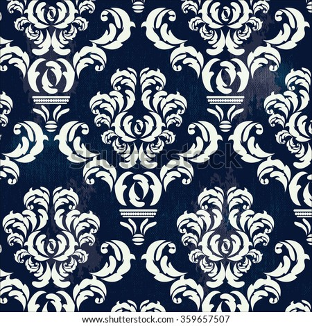 Wallpaper in the style of Baroque. Vintage seamless background. Victorian Pattern - stock photo