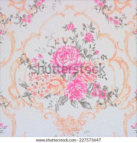 Wallpaper Rose pink background - stock photo