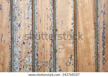Wallpaper weathered wood with black paint - stock photo