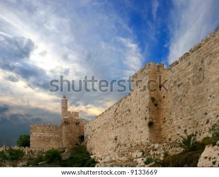 Walls of Jerusalem - stock photo