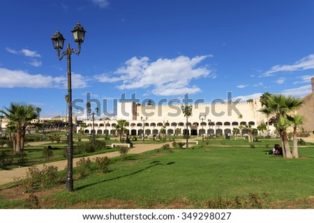 Walls of the old medina in Meknes, Morocco, Africa - stock photo