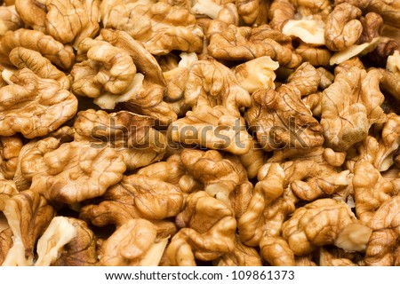 Walnut background - stock photo