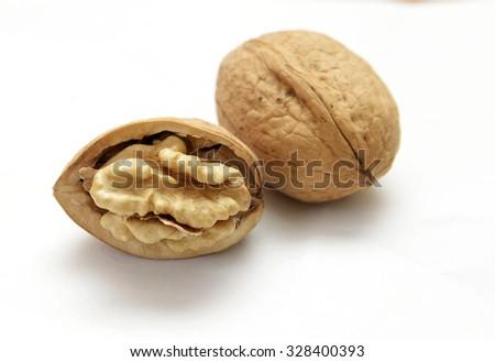 walnut isolated - stock photo